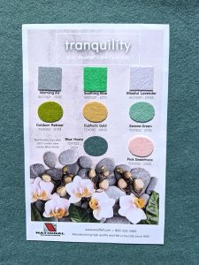 Tranquility Color Swatch CArd